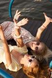 2 женских друз Стоковые Изображения RF