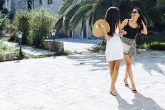 2 женских друз sightseeing Стоковые Изображения