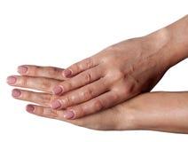 2 женских руки в элегантном представлении Стоковая Фотография RF