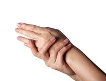 2 женских руки в элегантном представлении Стоковое Изображение RF