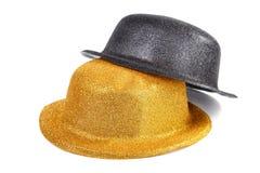 2 женских шляпы для masquerade изолированной на белой предпосылке Стоковая Фотография