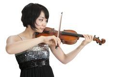 Женское азиатское violonist; Стоковое Изображение