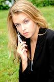 Женское выражение красоты снаружи Стоковые Изображения RF