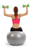 Женское делая давление плеча Стоковое Изображение
