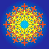 женское колесо знака Стоковое фото RF
