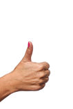женское положение руки thumbs вверх Стоковые Изображения RF