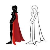 Женское представление супергероя Стоковое Фото