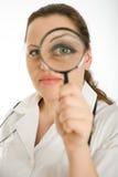 Женское рассмотрение доктора стоковая фотография
