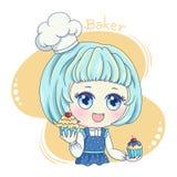 Женское Baker_7 иллюстрация вектора