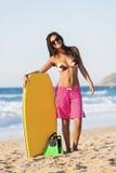 Женское bodyboarder Стоковое Фото