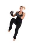 Женское kickboxer Стоковые Фотографии RF