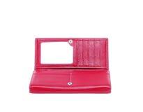 женственный красный цвет портмона Стоковые Изображения