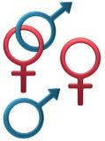 женственный мыжской символ Стоковое Изображение