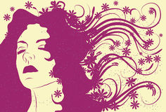 женщина абстрактных волос длинняя s пропускать стороны бесплатная иллюстрация
