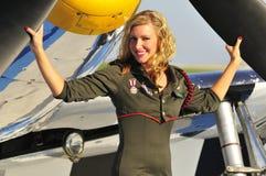 женщина авиатора Стоковая Фотография RF