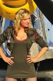 женщина авиатора Стоковая Фотография