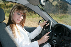 женщина автомобиля дела Стоковые Фото