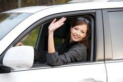 женщина автомобиля новая успешная Стоковое фото RF