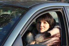 женщина автомобиля сь Стоковая Фотография RF