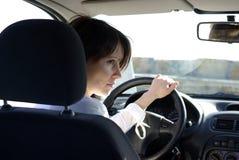 женщина автомобиля Стоковая Фотография RF