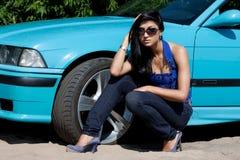 женщина автомобиля Стоковое Изображение RF