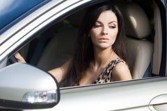 женщина автомобиля Стоковое Фото