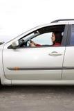 женщина автомобиля Стоковые Изображения RF