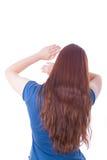 женщина агрессии себя защищая Стоковое Изображение RF
