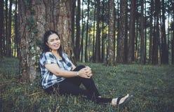 Женщина Азии ослабляет Стоковое Изображение RF