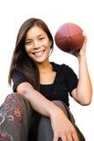 женщина американского футбола Стоковые Фото