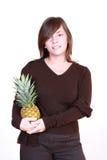 женщина ананаса Стоковые Фотографии RF