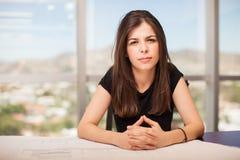 женщина архитектора уверенно Стоковая Фотография