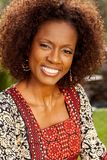 Женщина афроамериканца зрелая Стоковые Фото