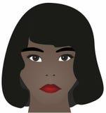 женщина афроамериканца милая Стоковое фото RF