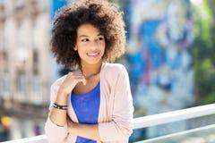 женщина афроамериканца привлекательная Стоковое Фото