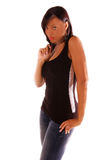 женщина афроамериканца сексуальная Стоковое Изображение RF