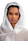 Женщина афроамериканца с вуалью Стоковые Изображения