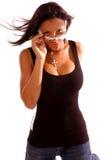 женщина афроамериканца стоковое фото