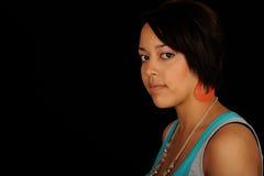 женщина афроамериканца стоковое изображение rf