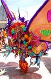 Женщина бабочки радуги масленицы Атланты Стоковая Фотография RF