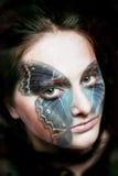 женщина бабочки Стоковые Фото
