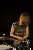 женщина барабанщика Стоковые Изображения RF
