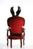 женщина барочных ног chairwith ретро Стоковые Фотографии RF