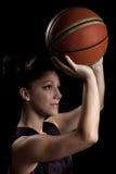 женщина баскетбола Стоковые Изображения