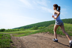 женщина бега красотки Стоковое Фото