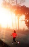 женщина бега утра Стоковое фото RF