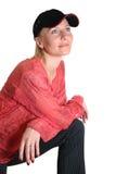 женщина бейсбольной кепки Стоковые Фото
