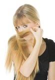 женщина белокурого портрета сь Стоковые Изображения RF