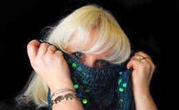 женщина белокурого танцы восточная стоковые изображения rf