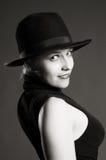женщина белокурого шлема сексуальная Стоковые Изображения RF